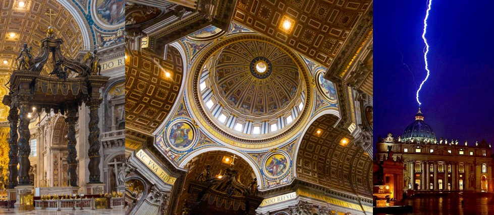 Tento obrázok nemá vyplnený ALT popisok, jeho názov je bazilika-sv-petra-hrob-kupola-blesk.jpg