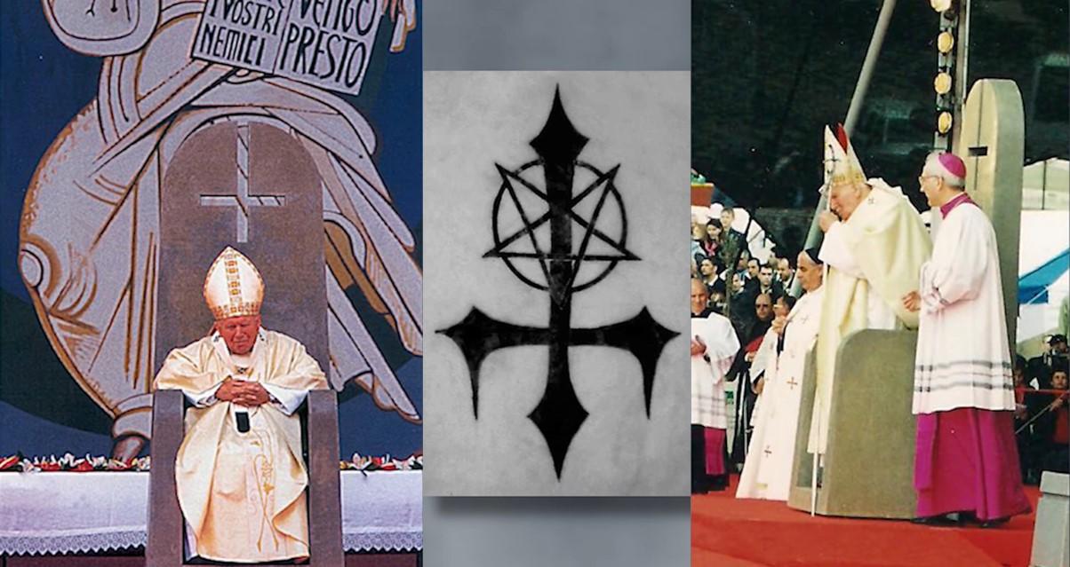 This image has an empty alt attribute; its file name is obrateny-kriz-jan-pavol-ii-antikrist-satanizmus.jpg